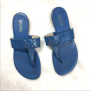 MICHAEL Michael Kors Blue Leather Sandals Size 7.5